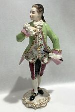 ANTIQUE GERMAN VOLKSTEDT PORCELAIN FIGURINE OF A GENTLEMAN