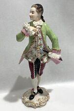 New listing Antique German Volkstedt Porcelain Figurine Of A Gentleman