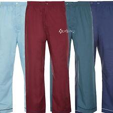 Mens Champion 2 Pack Pyjama Bottoms Lounge Pants Plain PolyCotton Sizes S-4XL