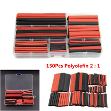 150Pcs Polyolefin 2:1 Car Heat Shrink Tubing Tube Sleeving Wrap Wire Cable Kit