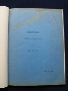 ORIGINAL GILLIGAN'S ISLAND SCRIPT - Actor JIM BACKUS'S Personal CopywiCallSheets