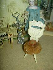 Lovely antique, 'prisoner of war' carved bone, dollhouse miniature boudoir chair
