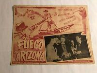 Vintage Thunder over Arizona Fuego Sobre Arizona Poster Movie 1956 16.5 x 12.5