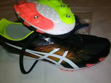 Asics G604Y Gunlap Black White Track And Field Spikes Shoes Men's US 9 NEW