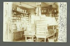 Bennett WISCONSIN RP 1908 INTERIOR GENERAL STORE nr Superior Solon Springs NW WI