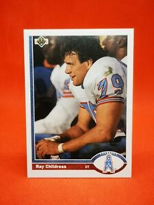Upper Deck 1991 carte card football NFL NM+/M Houston Oilers #277 Ray Childress