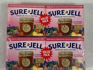 "Sure Jell ""No Sugar"" Premium Fruit Pectin Light. Four, 1.75 Ounce Boxes"