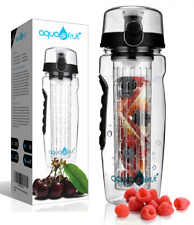AquaFrut 32 OZ Fruit Infuser Water Bottle BPA-Free Fruit 32 Oz, Color: Black