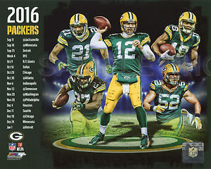 2016 GREEN BAY PACKERS NFL COMPOSITE LICENSED UNSIGNED 8X10 TEAM PHOTO RODGERS