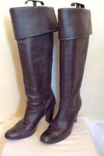 DOROTHY PERKINS DARK BROWN LEATHER KNEE HIGH BOOTS SIZE 5/38