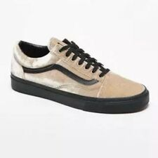 5c31d9d11c VANS VELVET OLD SKOOL SHOES BEIGE AND BLACK SNEAKERS MS 8.5 -WS 10