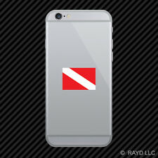 Dive Flag Cell Phone Sticker Mobile scuba diving #1