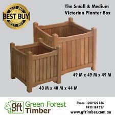 Medium Bangkirai Hardwood Victorian Planter box