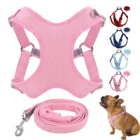Step In Dog Harness and Leash Nylon Reflective Adjustable Small Large Dog Yorkie