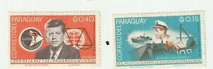 Paraguay 1965 John F. Kennedy PT-109 Mint Stamps