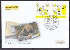 Echte Briefmarken aus Deutschland (ab 1945) mit Ersttagsbrief für Post, Kommunikation