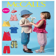 New ListingVintage McCall Patterns Fast and Easy M6540 Children's Summer Tops Shorts & Hat