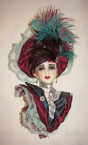 NEW IN BOX - Unique Creations Limited Edition Lady Face Mask Wall Hanging Decor