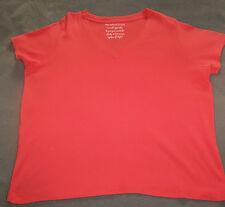 Ladies Size 22 - 24 Evans East Coast v neck short sleeve orange top 100% cotton