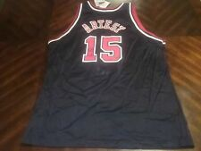 f3c57bd476a NWT Ron Artest Chicago Bulls signed Champion jersey LE Fleer Metta World  Peace