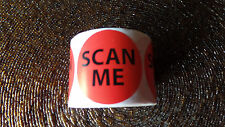"""300 New Red Round Scan Me Labels 1 1/2 """" for  USPS UPs Fedex plus Free Shipping"""