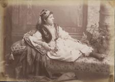 Proche Orient, Femme sur divan, ca.1880, Vintage albumen print Vintage albumen p
