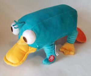 "Disney Store Phineas & Ferb Perry the Platypus Plush ""Talking"" Chirping 19"" NEW"
