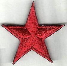 Hierro En / De Coser Parche Bordado Insignia ESTRELLAS ROJA 5 Puntos Rojo