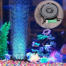 Aquarium Fish Tank Air Curtain Bubble Stone Disk Submersible Light Pond LED Hot