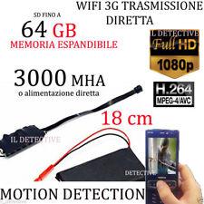 Spy Camera Spia WIFI HD SD 64GB TELECAMERA MICRO NASCOSTA MICROCAMERA