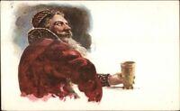 Bearded Man Russian w/ Mug - Beer c1910 Used Postcard