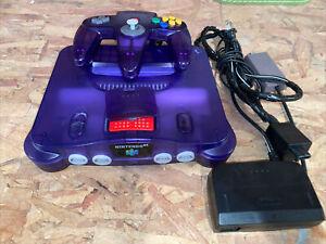 Clear Grape Funtastic Purple Nintendo 64 N64 Console Set REGION FREE *AUTHENTIC*