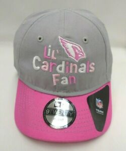 Arizona Cardinals Girl's Infant Pink New Era 9TWENTY Lil Fan Cap Hat