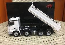 Mercedes-Benz Arocs 8x4 Dump Truck White 1:50 Scale Die-Cast Model By NZG 904