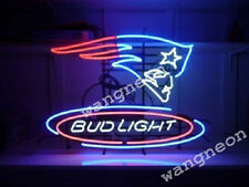 New England Patriots Super Bowl Bud Light Beer Neon Beer Sign FAST FREE SHIPPING