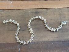 "Women's 10KT Yellow Gold 1+ CT Diamond S Design Tennis Bracelet 7.5"""