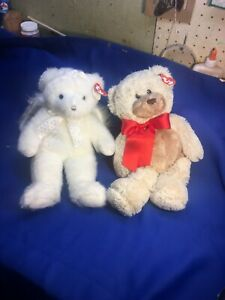 """2002 """"ANGELINA"""" & 2006 """"SUGARBEARY""""  Ty CLASSIC 13""""-Tall Beanies - ALL Tags"""