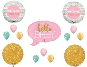 Tribal Welcome Little One Baby Girl Shower Balloons Decoration Supplies Gold