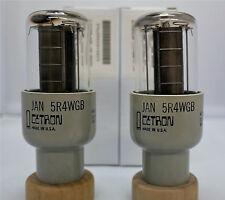 5R4WGB JAN Cetron Made in USA NOS OEM Boxes Pair/2 Tubes 5R4 5U4 5AR4 CV5181