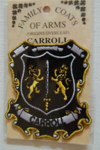 CARROLL Family PATCH Heraldic Coat of Arms - Crest - Embroidered - Badge