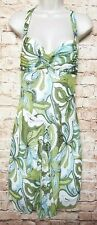 A.B.S by Allen Schwartz Women Size 6 A-line Dress Ruched Top Spaghetti Strap