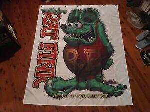 Rat fink mancaveideas mens gift idea Shower curtain or mancave bar flag poster