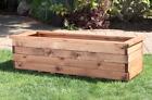 Deep Long XL Trough Rectangle Wooden Garden Planter Extra Large Plus Plant Pot