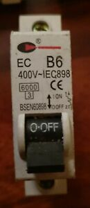 7 x New EC B6 MCB 400v IEC898 (100% Genuine Parts) Basic Denmans Lewden