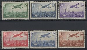DH144445/ FRANCE / AIRMAIL / Y&T # 8 / 13 MINT MNH COMPLETE