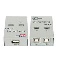 Usb 2.0 Switch Di Condivisione Manuale Kvm 2 Port Hub Per Stampante Scanner