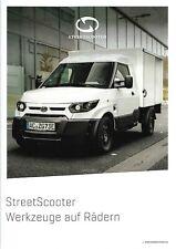 Prospekt / Brochure Streetscooter Work Box Pickup Pure Pedelecs