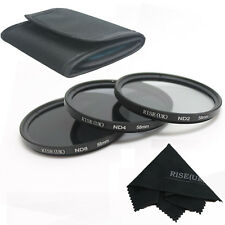RISE(UK)58MM ND Neutral Density Filter Set ND2 ND4 ND8 for Canon Nikon  Lens fre