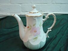 """New ListingBeautiful Vintage Hand Painted Tea Pot, Unmarked, 7"""" tall, 6 1/2"""" Spout-Handle"""