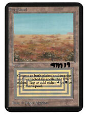 MTG Collector's Edition Signed Scrubland with clipped corners #1